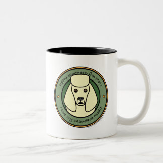 Love My Standard Poodle Two-Tone Mug