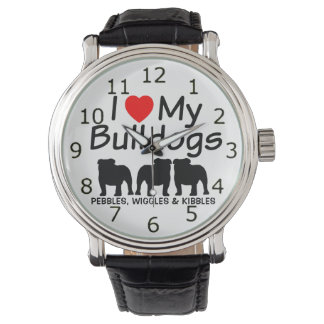 Love My Three Bulldogs Watch