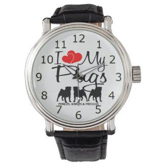 Love My THREE Pugs Wristwatch