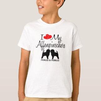 Love My TWO Affenpinscher Dogs T-Shirt