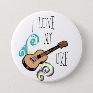 Love My Uke 3 Inch Round Button