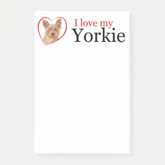 Love My Yorkie Post-It Notes