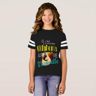 Love Nashville from Oklahoma Girl's Football Shirt