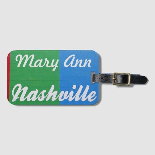 Love Nashville Luggage Tag