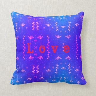 Love nature pattern throw pillow