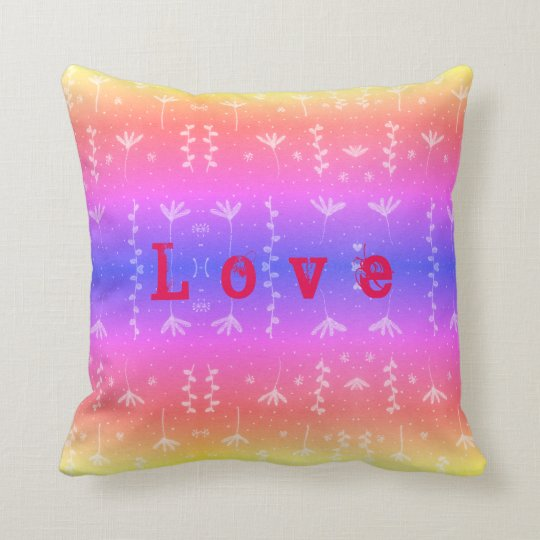 Love nature pattern throw pillow