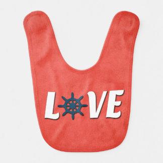 Love nautical design bib