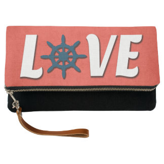 Love nautical design clutch