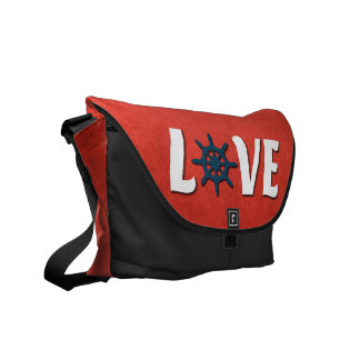 Love nautical design commuter bag