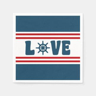 Love nautical design paper napkins