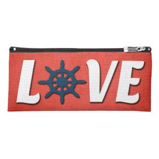 Love nautical design pencil case