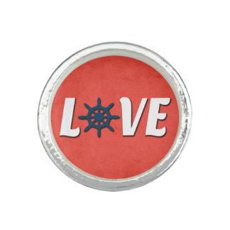 Love nautical design photo rings