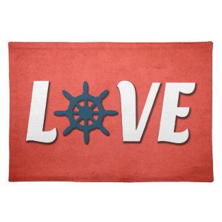 Love nautical design placemat