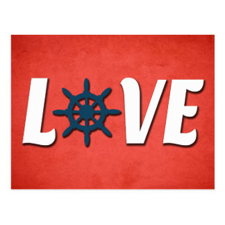 Love nautical design postcard