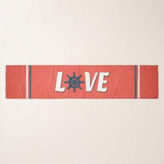 Love nautical design scarf