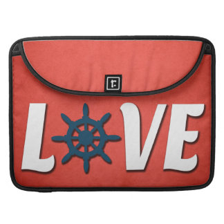 Love nautical design sleeve for MacBook pro