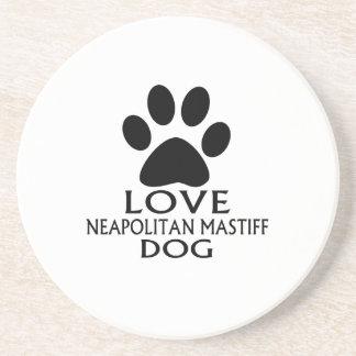 LOVE NEAPOLITAN MASTIFF DOG DESIGNS COASTER