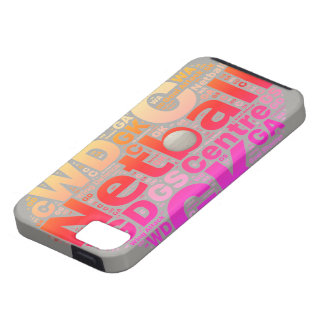 Love Netball Positions Heart Design Case For The iPhone 5