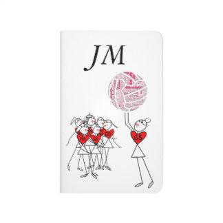 Love Netball Positions Stick Figures Journal