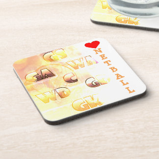 Love Netball Themed Picture Print Design Coaster