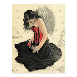 Love never dies mourning angelPostcard Postcard