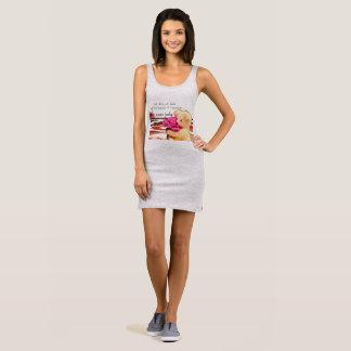 Love Never Fades Heather Grey Jersey Tank Dress
