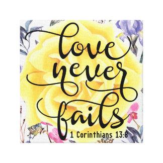 Love Never Fails 1 Corinthians 13:8 Canvas Print