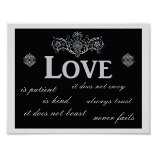 Love Never Fails --- Art print