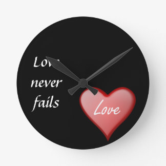 Love never fails clocks