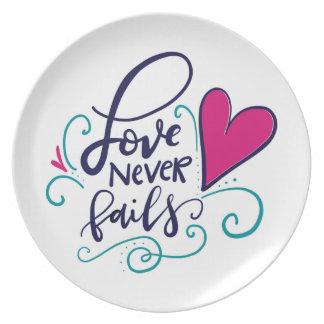 Love Never Fails Dinner Plates