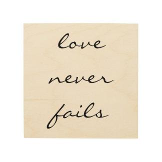 Love Never Fails - Inspirational Wood Wall Art