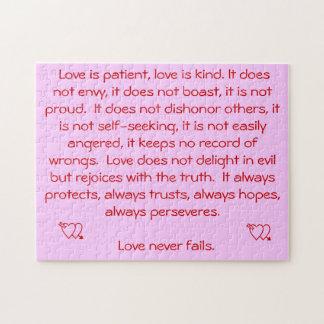 Love Never Fails Jigsaw Puzzle