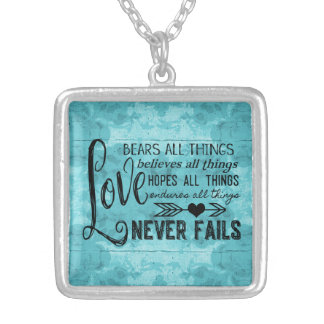 Love Never Fails Necklace (Turquoise)