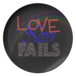LOVE NEVER FAILS   PLATE