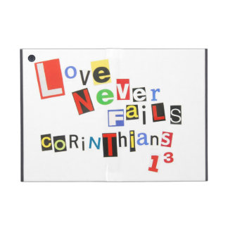 Love Never Fails Ransom Note Style iPad Mini Cases