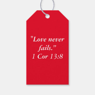 """""""Love Never Fails"""" Scripture Gift Tag Pack Of Gift Tags"""