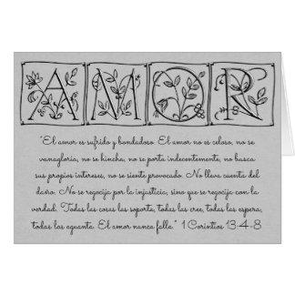 Love Never Fails ~ Scripture~Spanish Card