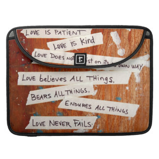 Love Never Fails Sleeve For MacBook Pro