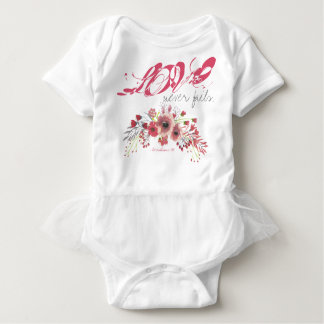 Love Never Fails Tutu Baby T-Shirt