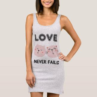 LOVE NEVER FAILS TWO CATS SLEEVELESS DRESS