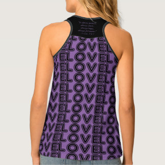 LOVE NEVER FAILS TWO CATS TANK TOP