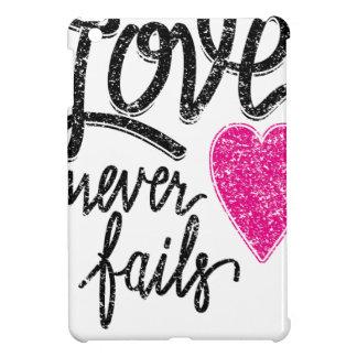 love never fails, vintage heart iPad mini cover