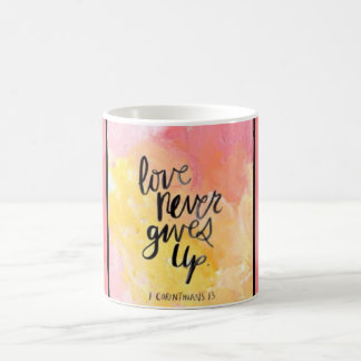 Love Never Gives Up Mug