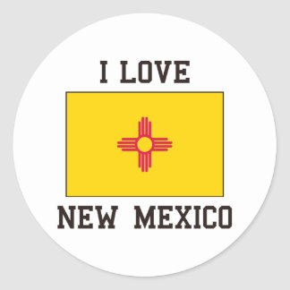 Love New Mexico Classic Round Sticker
