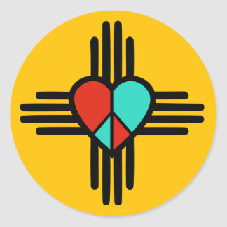 Love, New Mexico, Peace Classic Round Sticker