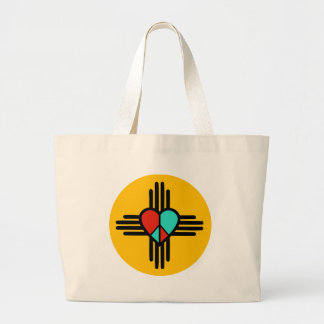 Love, New Mexico, Peace Large Tote Bag