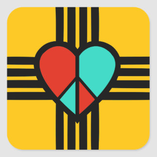 Love, New Mexico, Peace Square Sticker