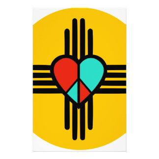 Love, New Mexico, Peace Stationery Paper
