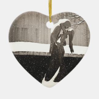 Love - New York Winter Ceramic Ornament