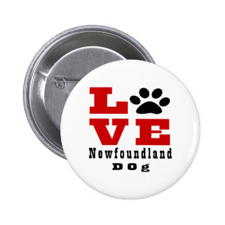 Love Newfoundland Dog Designes 2 Inch Round Button